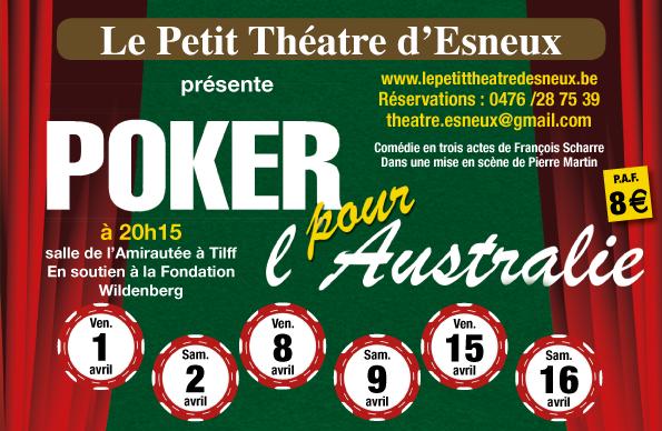 Lancement des réservations pour Poker pour l'Australie et ouverture du site Internet!!