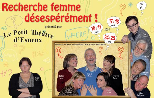 RECHERCHE FEMME DESESPEREMENT de Vincent DURAND